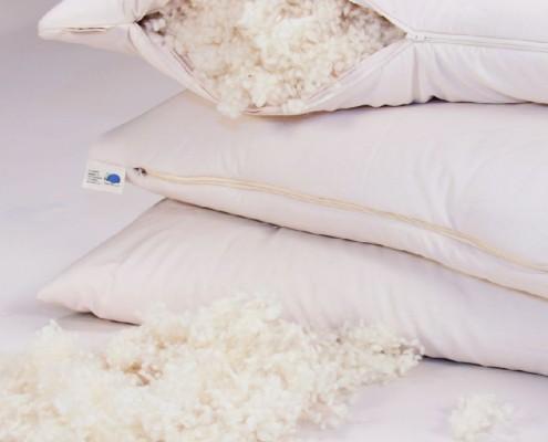 Kissen Schafschurwollflocken