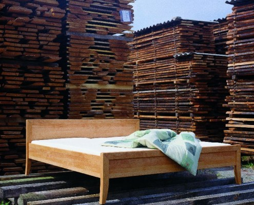 metallfreie Betten von der Holzschmiede