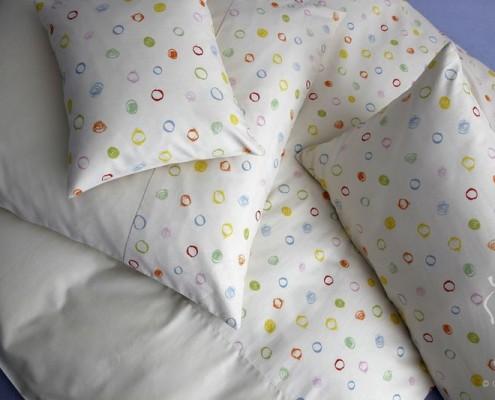 Kinderbettwäsche - Kritzelkreise