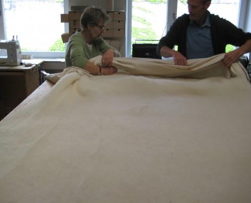 Bettdecken aus Schafschurwolle