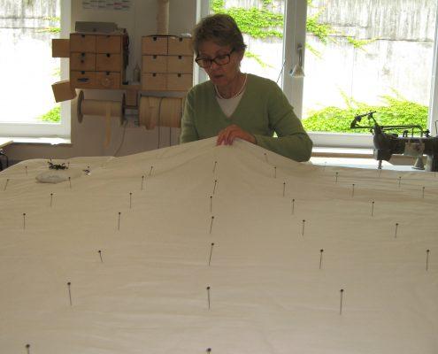 Sommerdecken - Positionierung der Kreuzstiche