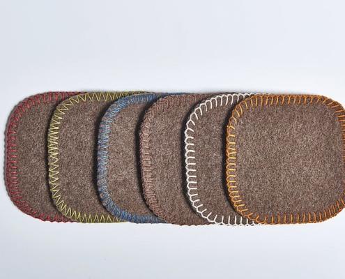 Wolldecken - Farben der Kettelung