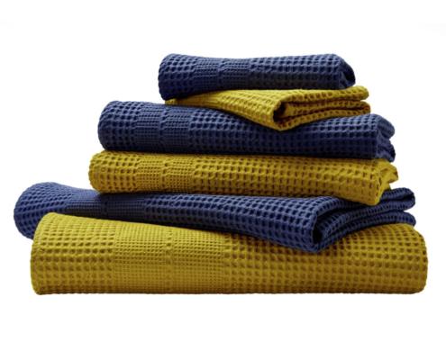 Waffelpikee-Handtücher von Cotonea